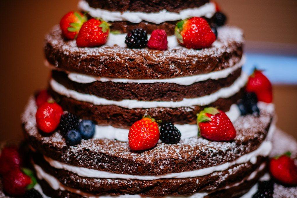brownie wedding cake winter wedding huntington wv