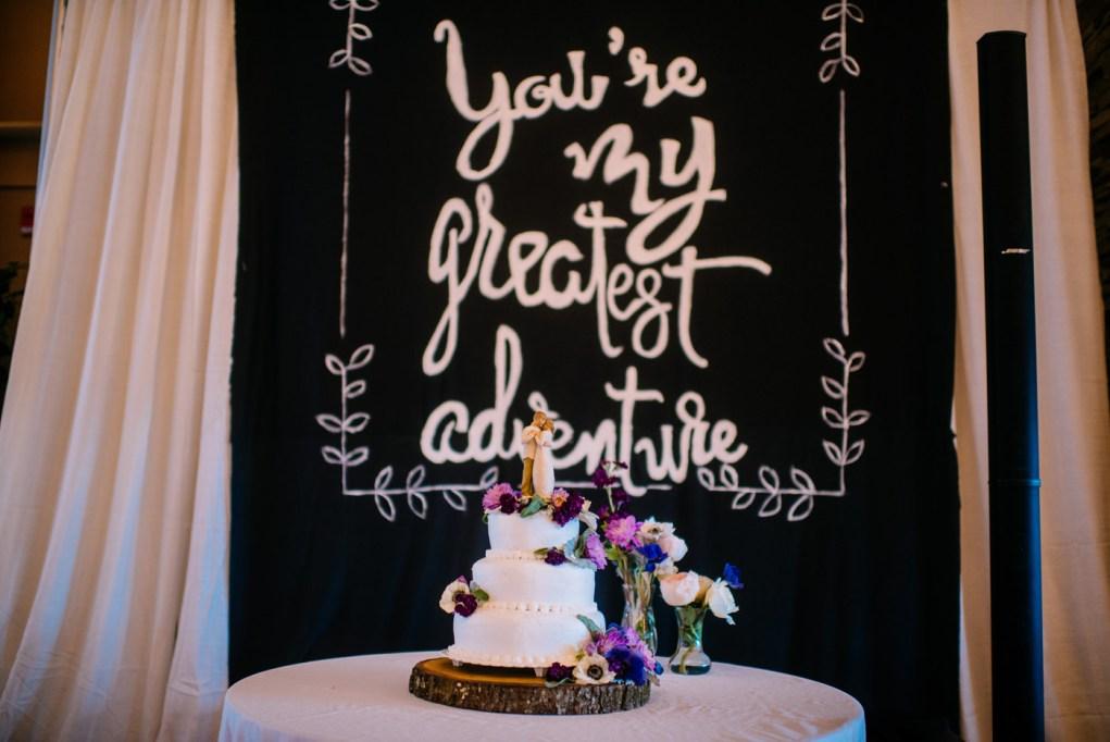 youre my greatest adventure wedding decor