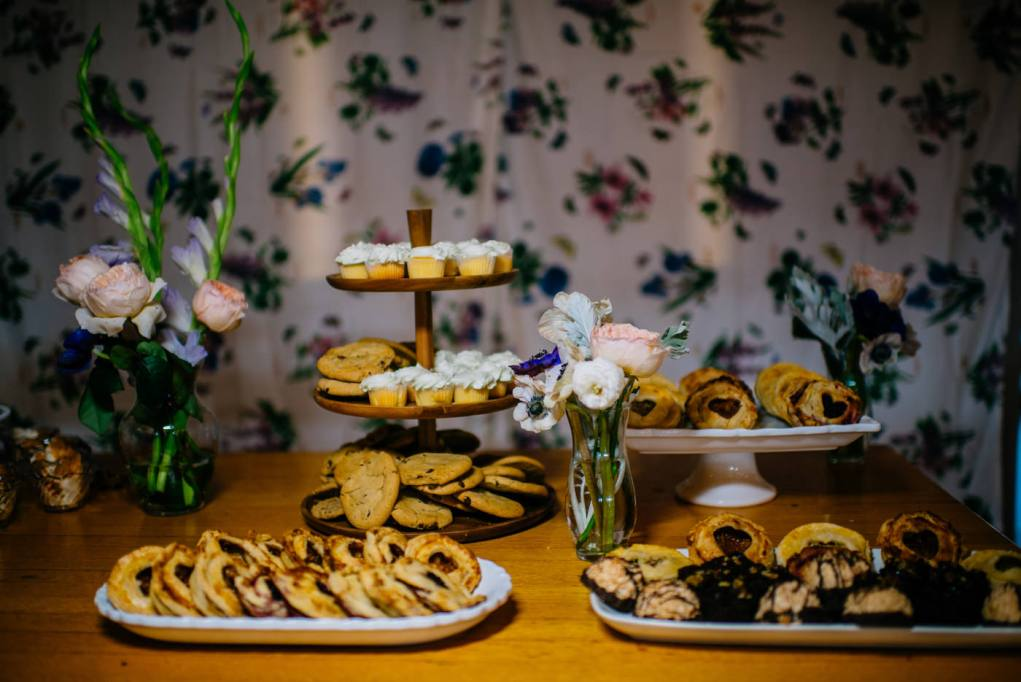 cookie table wedding reception