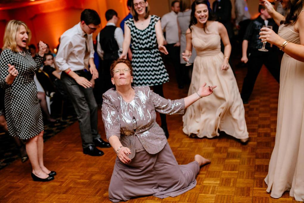wv winter wedding mother of the bride dancing