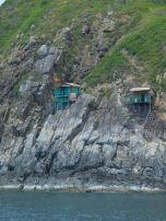 Sea Shacks built into the cliffs
