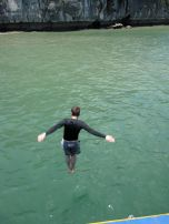 Eric diving off the boat!