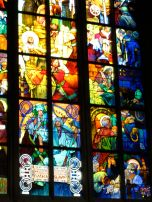 Bottom of Mucha's Window in St. Vitus' Cathedral