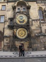 Eric and I in front of the Astronomical Clock or Orloj.