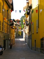 Little alleyway all dolled up in Varenna, Italy
