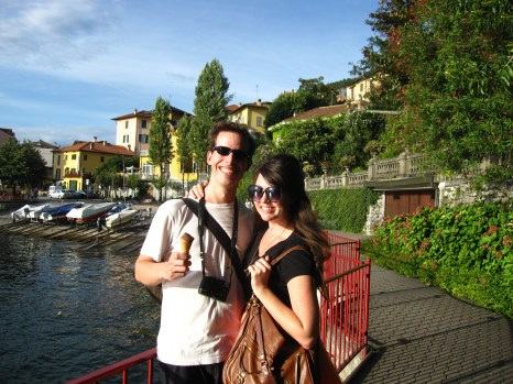 The end of a great day at Lake Como