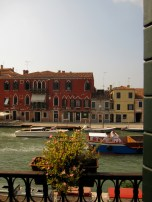 The view from our window in Venice