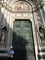 Standing guard at the cathedral in Florence....