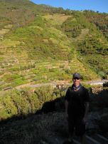 Eric at the beginning of our hike from Manarola to Corniglia