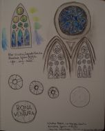 My stained glass windows, yet to be colored.