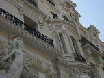Facade of the Hotel de Paris next to the Monte Carlo Casino