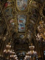 "The first women to enter the Grand Foyer was a widowed royal from Spain. Women were only allowed to enter this hall accompanied by men at the time and as she was widowed, she had no way to go in. The paintings on the ceiling by Paul Baudry were the talk of the town and she wanted to see them. Not giving a fig, she decided to go ahead anyway and she went in and said in quite a loud voice ""I am very pleased to see the paintings of Monsieur Baudry. THANK YOU VERY MUCH!"". From then on, women were allowed to roam freely!"