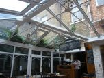 Awesome Conservatory patio at the Blue Legume cafe on Church Street