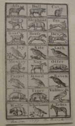 Old spelling of animals including an Afs, a Horfe and a Wolfe