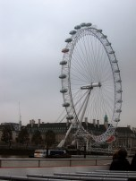 The London Eye-where our guide told us that the missing pod had fallen into the Thames (I believed him!)