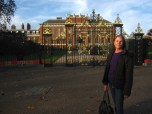 Mom in front of Kensington Palace at Hyde Park