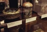 Bird nest and bird cage vintage tins