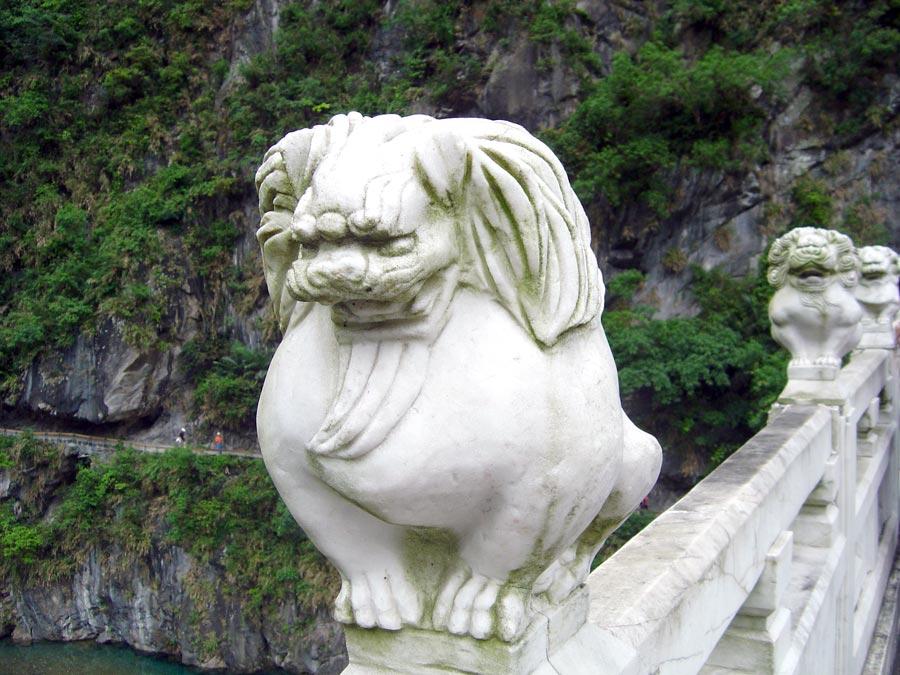 Hualien Taroko Shakadang Stone Lion