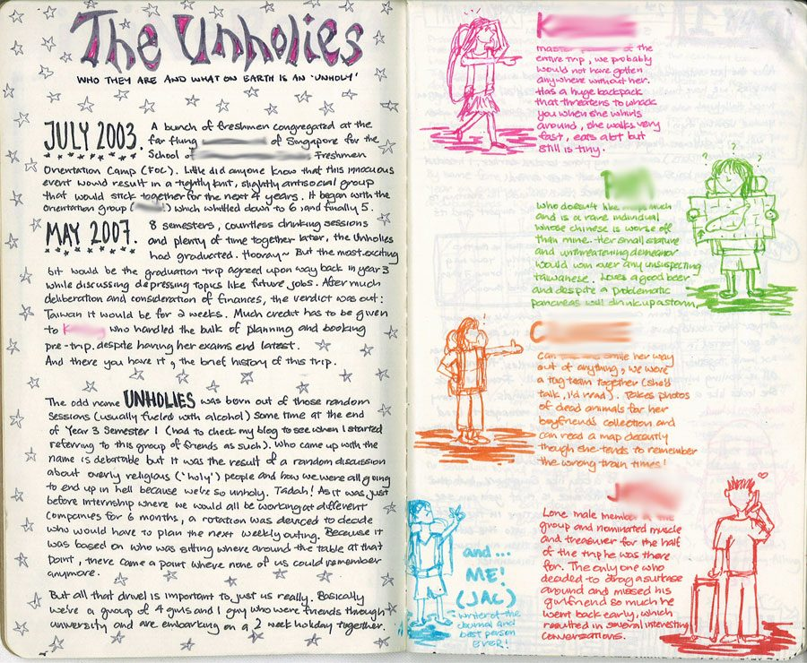 Taiwan Tales Moleskine Journal Introduction