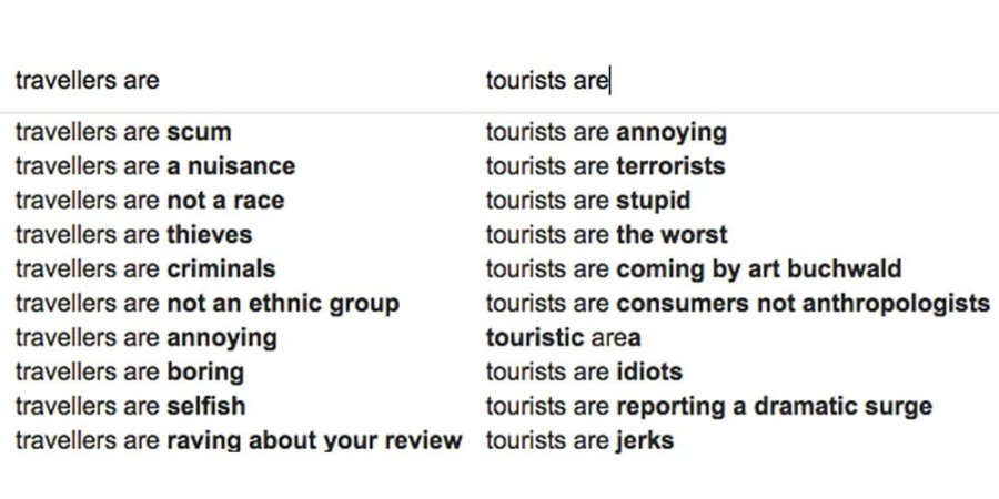 Traveller vs Tourist Google Search