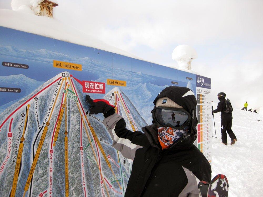Japan Hokkaido Rusutsu Skiing Me Map