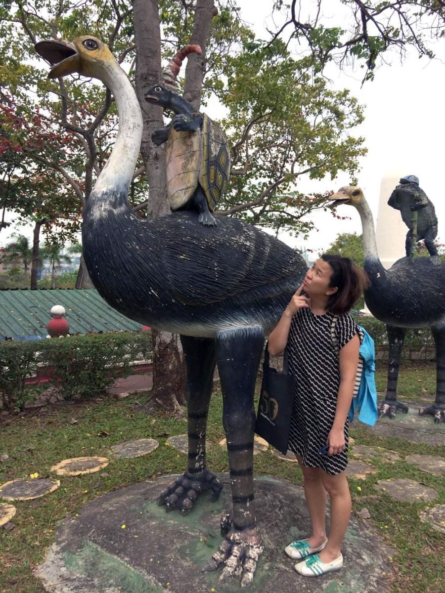 Haw Par Villa Emu Turtle Rider