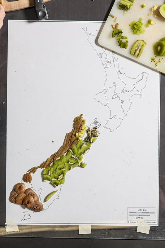 Food Maps by Henry Hargreaves and Caitlin Levin - New Zealand WIP
