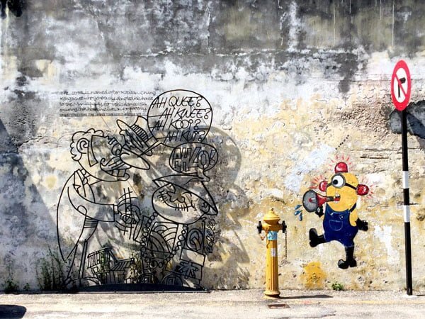 Penang Street Art - Ah Quee and Minion