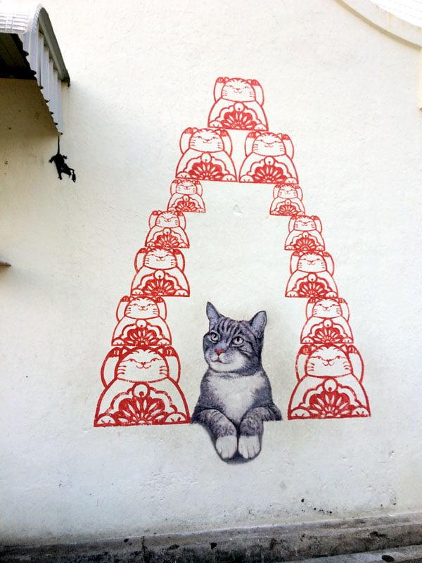 Penang Street Art - Fortune Cat