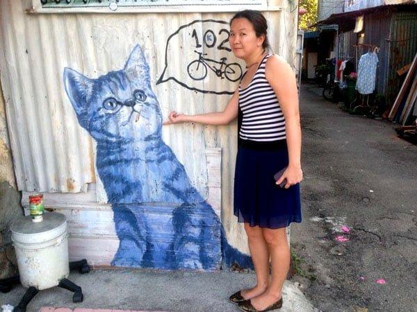 Penang Street Art - Kitten