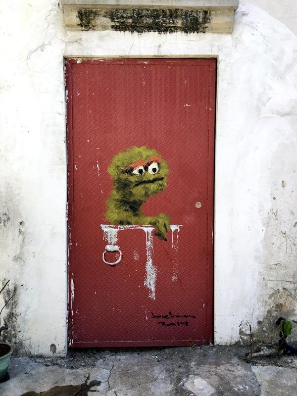 Penang Street Art - Lorong Toh Aka Bibichun Oscar
