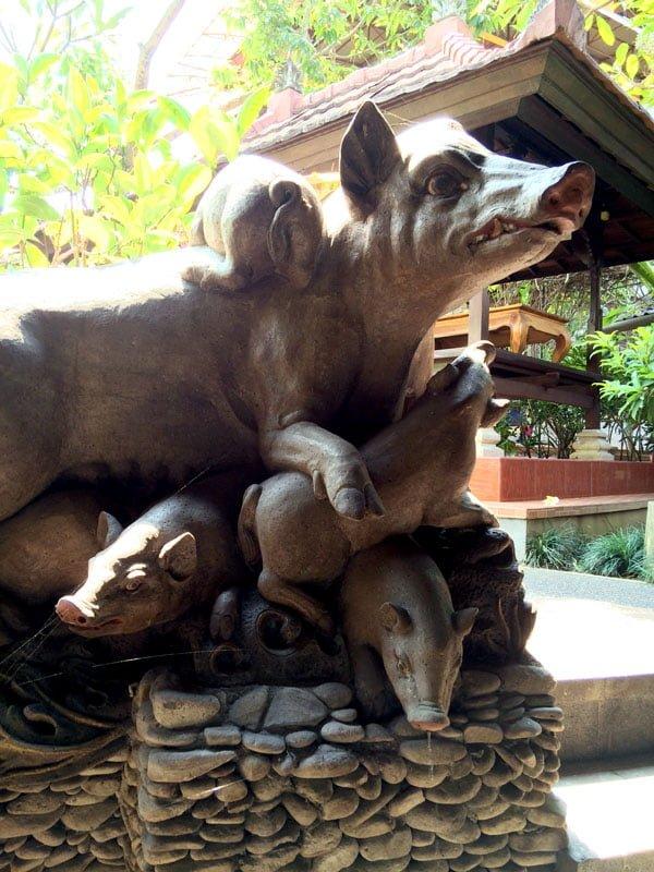 Bali Ubud Ibu Oka Pig Statue