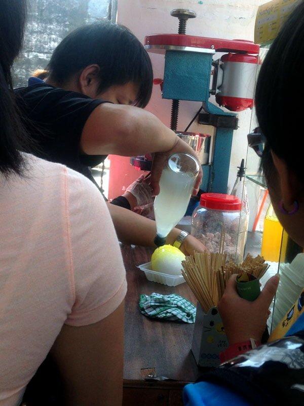Penang Food - Ice Ball Making