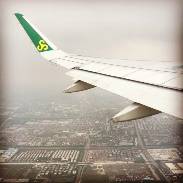 Shanghai Spring - Spring Airlines in Air