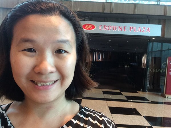 Crowne Plaza Changi Airport - Entrance Selfie