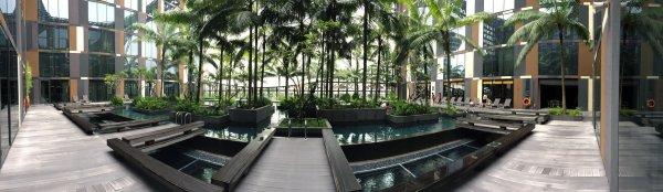 Crowne Plaza Changi Airport - Pool Panorama