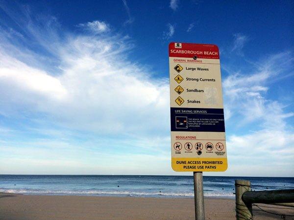 Perth Scarborough Rendezvous Beach Sign