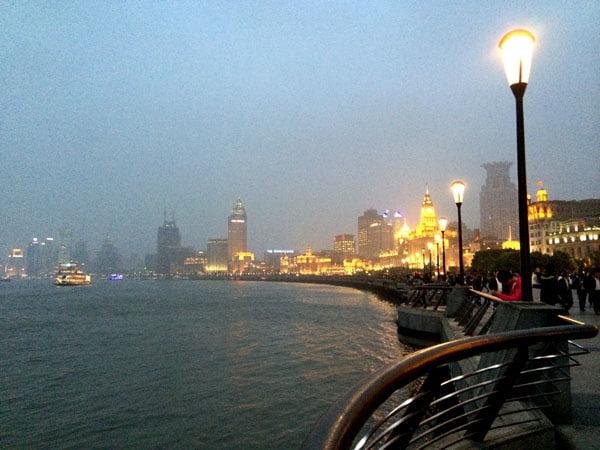 Shanghai Spring - The Bund promenade