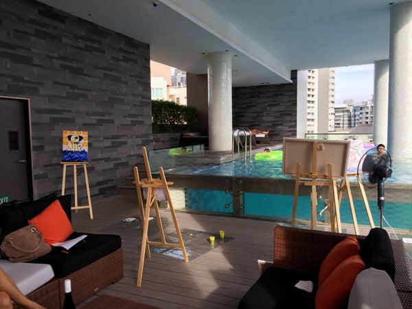 Quincy Hotel - Pool Art Jam