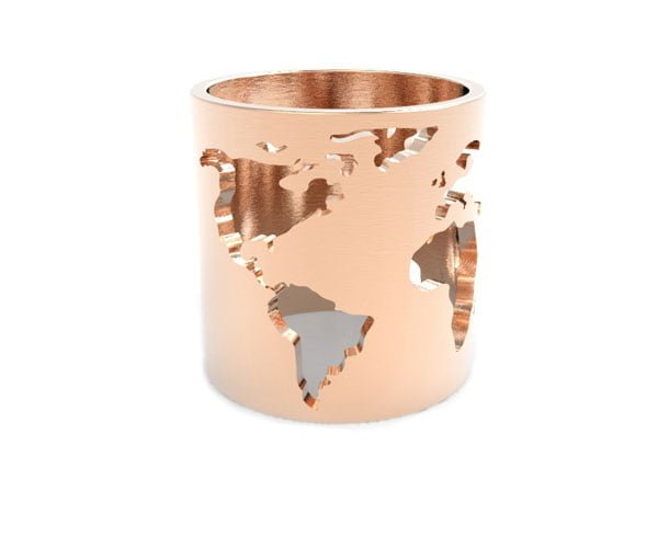 Wear the world on your wrist the artelier world cuff the artelier world map ring rose gumiabroncs Image collections