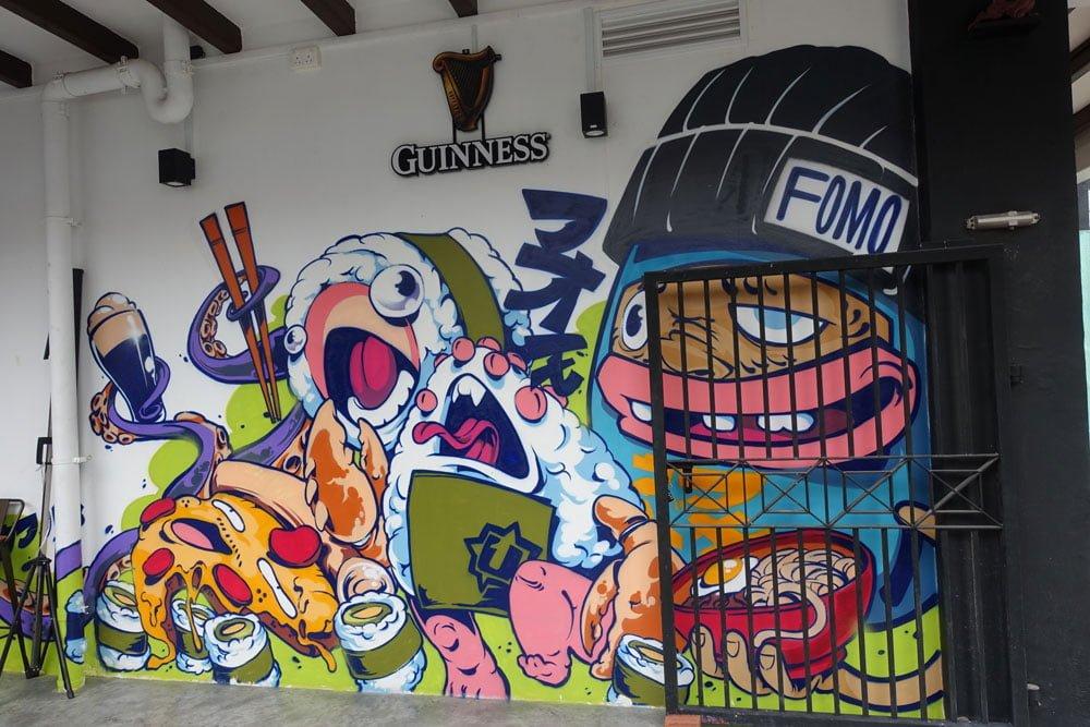 Singapore Street Art InkClog FOMO 1