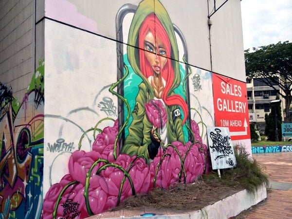 Eminent Takeover - Street Art Stop and Smell the Roses