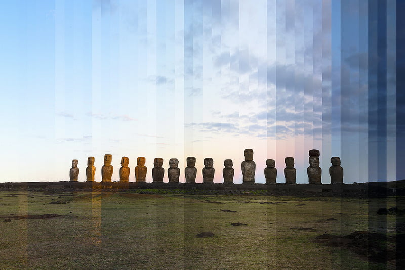 Richard Silver Time Sliced Easter Island
