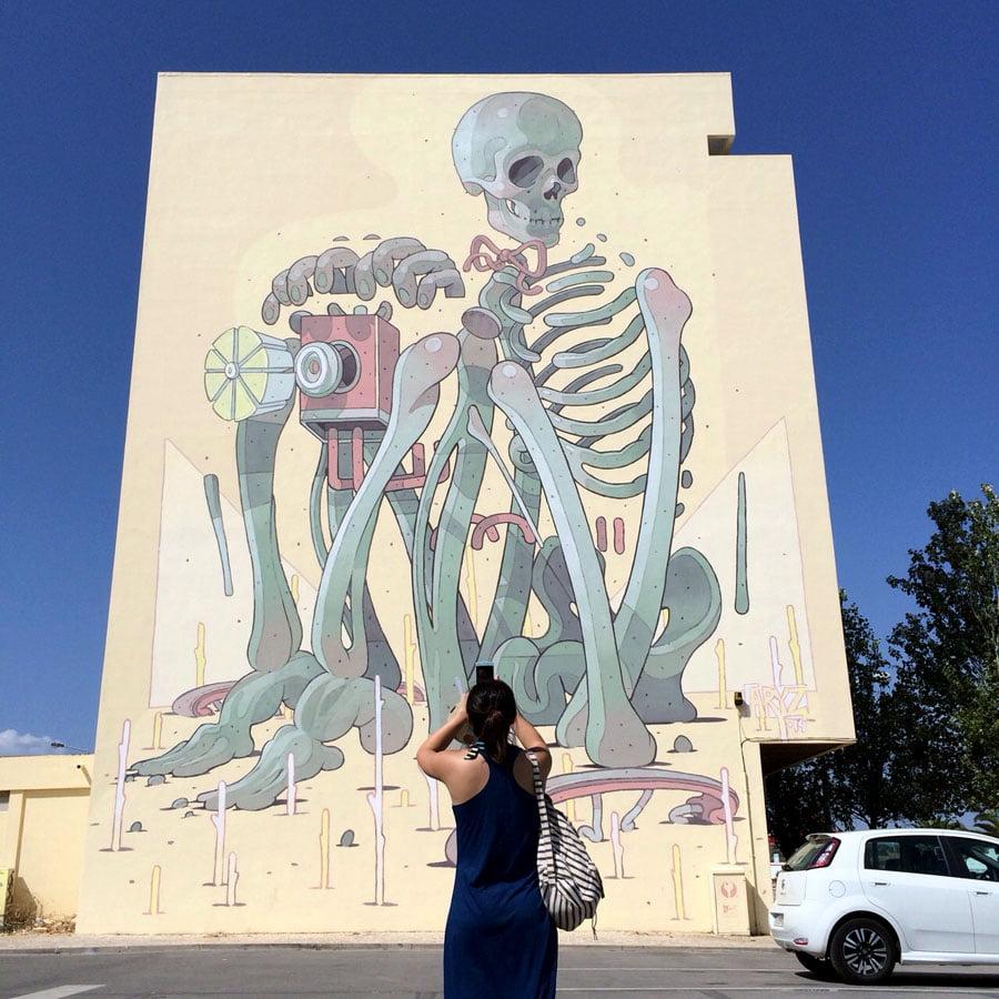 Stumbling upon Street Art in Lagos, Portugal