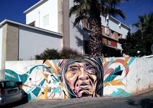 Portugal - Lagos Street Art C215 old lady