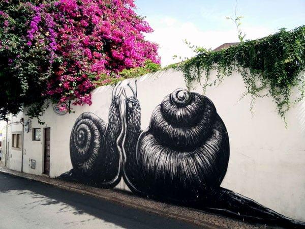 Portugal - Lagos Street Art Roa Snails