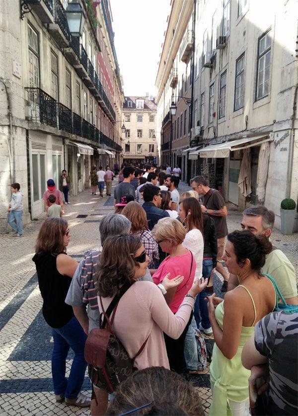 Portugal - Lisbon Roman Galleries Queue