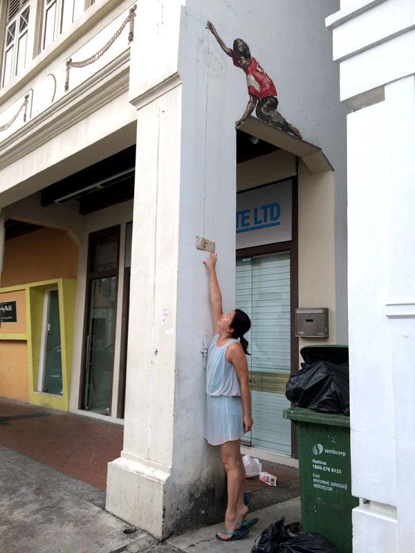 Singapore Street Art - Perak Hotel Money Boy