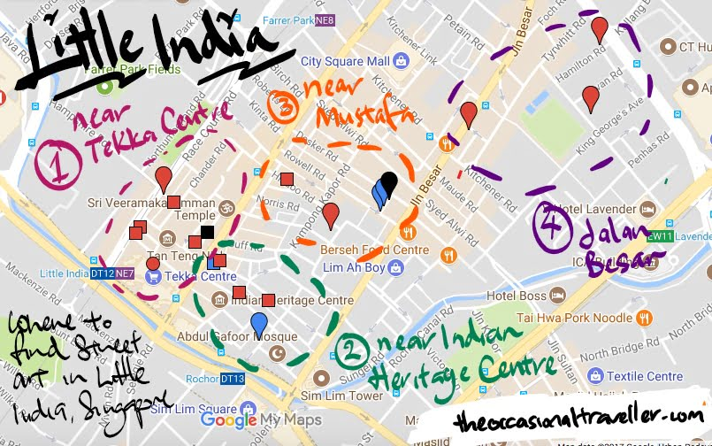 Little India Street Art Map
