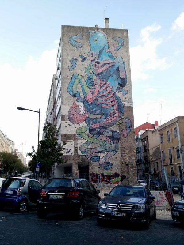 Portugal - Lisbon Street Art Aryz Horse